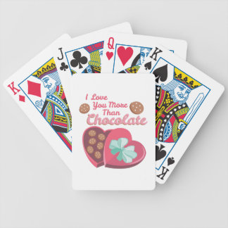 More Than Chocolate Poker Cards