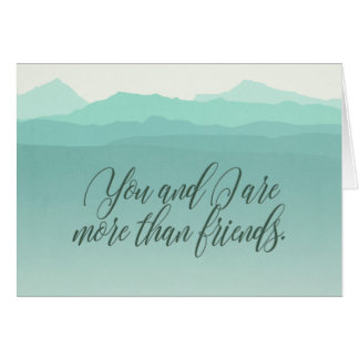 """""""More Than Friends"""" Tranquility Card"""
