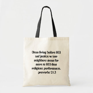 more than religious budget tote bag