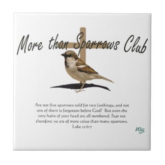 More Than Sparrows Ceramic Tile