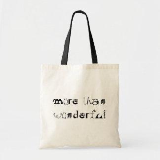 More Than Wonderful Canvas Bags