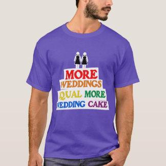 MORE WEDDINGS EQUAL MORE WEDDING CAKE LESBIAN T-Shirt