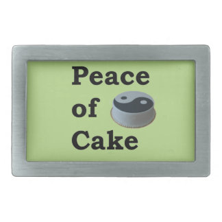 More Zen Anything Sayings - Peace Of Cake Rectangular Belt Buckles