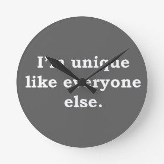 More Zen Anything Sayings - Unique Round Clock