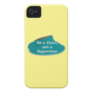 More Zen Anything Sayings -Visor not a Supervisor iPhone 4 Case