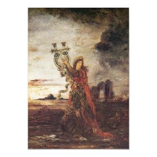 Moreau Arion fine art 13 Cm X 18 Cm Invitation Card