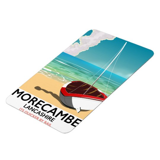 Morecambe, Lancashire Seaside travel poster Rectangular Photo Magnet