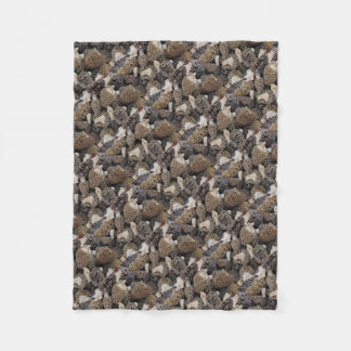 Morel Mushrooms Fleece Blanket