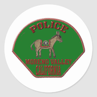 Moreno Valley Police Classic Round Sticker