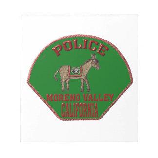 Moreno Valley Police Notepad