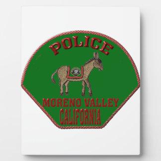 Moreno Valley Police Plaque