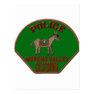 Moreno Valley Police Postcard