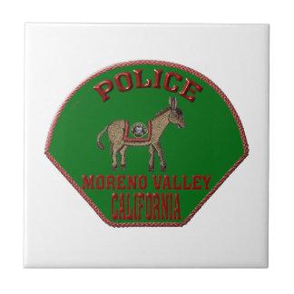 Moreno Valley Police Tile