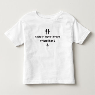 MoreThan1 Toddler T-Shirt (Blk on Wht)
