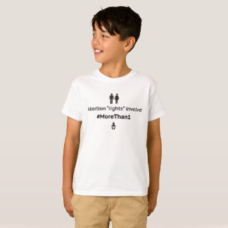 MoreThan1 Youth Unisex T-Shirt (Blk on Wht)