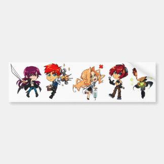 Morevna characters - Stickers set Bumper Sticker