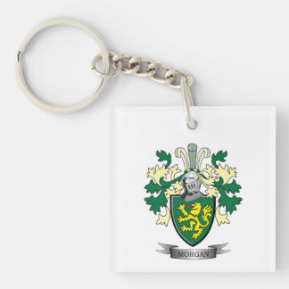 Morgan Family Crest Coat of Arms Key Ring