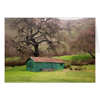 Morgan Hill green barn Card