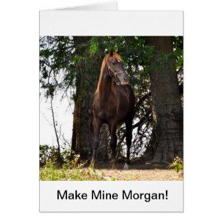 Morgan Horse Products!! Greeting Card