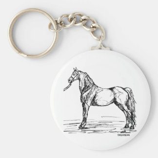 Morgan Horse Simple Sketch Key Ring