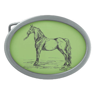 Morgan Horse Western Belt Buckle