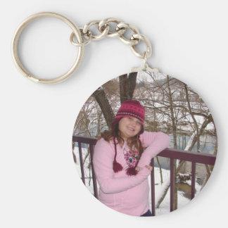 Morgan Basic Round Button Key Ring