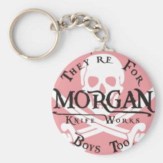 Morgan knife works basic round button key ring