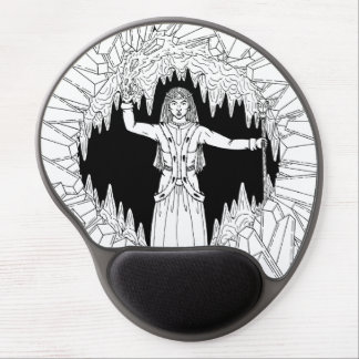 Morgan Le Fay B&W Gel Mouse Pad