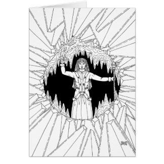 Morgan Le Fay B&W Greeting Card