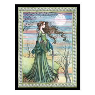 Morgan Le Fay  Fantasy Art Postcard