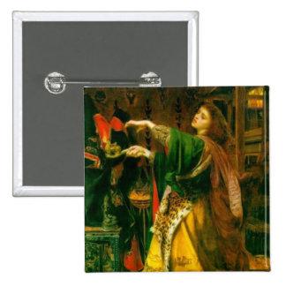 Morgan Le Fay Sandys 1864 Fine Art Painting Pinback Button