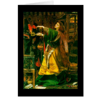 Morgan Le Fay ~ Sandys 1864 Fine Art Painting Greeting Card