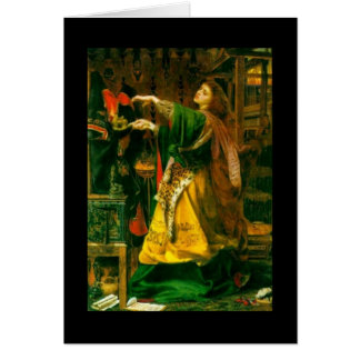 Morgan Le Fay ~ Sandys 1864 Fine Art Painting Note Card