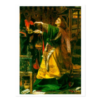 Morgan Le Fay ~ Sandys 1864 Fine Art Painting Postcard