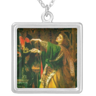 Morgan Le Fay ~ Sandys 1864 Fine Art Painting Silver Plated Necklace