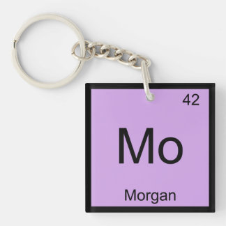Morgan Name Chemistry Element Periodic Table Single-Sided Square Acrylic Key Ring