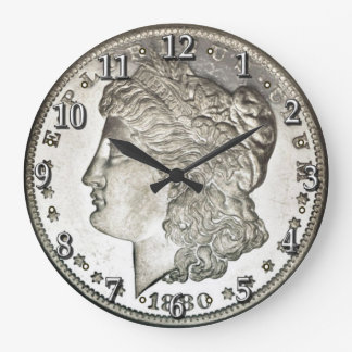 Morgan Silver Dollar Clock with Numbers