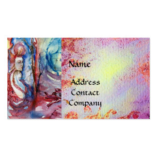MORGANA  AND DRAGON OF LAKE , Floral Swirls Business Card Template
