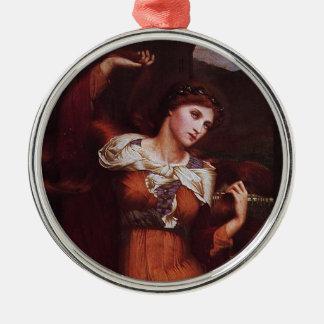 Morgana le Fay (Morgan Pendragon) Silver-Colored Round Decoration