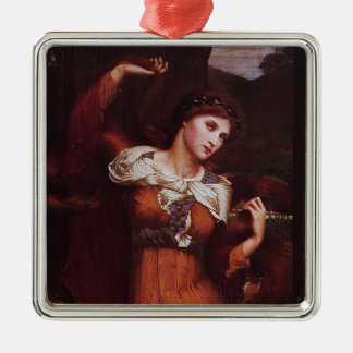 Morgana le Fay (Morgan Pendragon) Silver-Colored Square Decoration