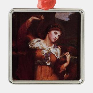 Morgana le Fay (Morgan Pendragon) Silver-Colored Square Decoration