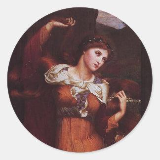 Morgana le Fay (Morgan Pendragon) Round Sticker