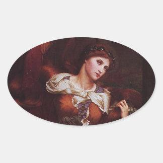 Morgana le Fay (Morgan Pendragon) Oval Sticker