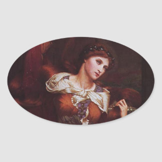 Morgana le Fay Morgan Pendragon Oval Stickers