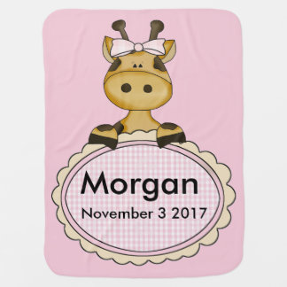Morgan's Personalized Giraffe Baby Blanket