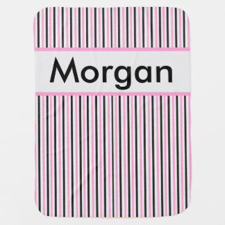Morgan's Personalized Stripe Blanket