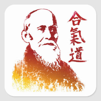 Morihei Ueshiba Square Sticker