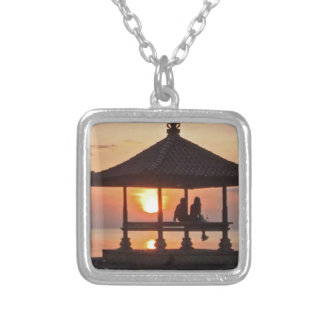 Moring in Bali Island Silver Plated Necklace