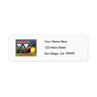 Morjon Apples Return Address Label