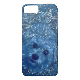 Morkie Dog Blue Humor Cute Funny iPhone Case